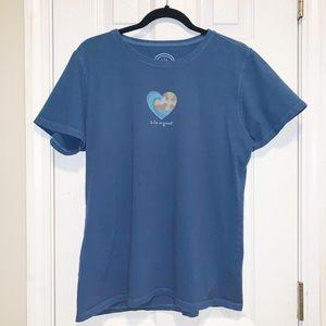 Life is Good Women's Short Sleeved T-Shirt